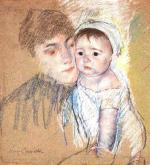 Mary Cassatt - paintings - Baby Bill in Cap ans Shift