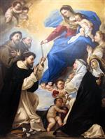 Luca Giordano  - Bilder Gemälde - Our Lady of the Rosary
