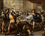 Luca Giordano  - Bilder Gemälde - Perseus Fighting Phineas and His Companions