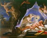 Luca Giordano  - Bilder Gemälde - Psyche Discovering the Sleeping Cupid