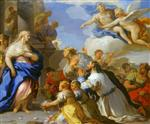 Luca Giordano  - Bilder Gemälde - Psyche Honoured by the People