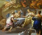 Luca Giordano  - Bilder Gemälde - Psyche Served by Invisible Spirits
