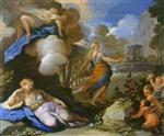 Luca Giordano  - Bilder Gemälde - Psyche Transported and Discovering Cupid's Palace