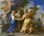 Bild:Psyche's Sisters Giving her a Lamp and a Dagger