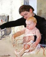 Mary Cassatt - paintings - Bathing the Young Heir