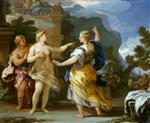 Luca Giordano  - Bilder Gemälde - Venus Punishing Psyche with a Task