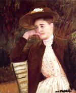 Mary Cassatt  - paintings - Celeste in a Brown Hat