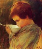 Mary Cassatt  - paintings - Child Drinking Milk