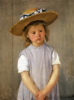 Mary Cassatt  - paintings - Child In A Straw Hat