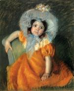 Mary Cassatt  - paintings - Child In Orange Dress