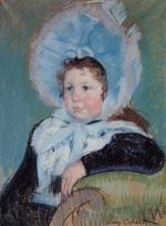Mary Cassatt  - paintings - Dorothy in a Large Bonnet and Dark Coat