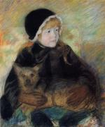 Mary Cassatt  - paintings - Elsie Cassatt Holding a Big Dog
