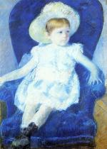Mary Cassatt  - paintings - Elsie in a Blue Chair
