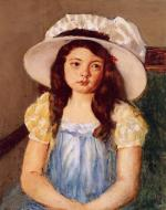 Mary Cassatt  - paintings - Francoise Wearing a Big White Hat