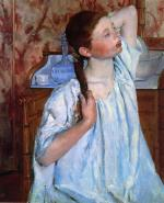 Mary Cassatt  - paintings - Girl Arranging Her Hair