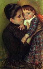 Mary Cassatt  - paintings - Woman and Her Child