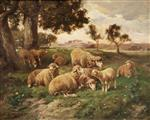Charles Emile Jacque - Bilder Gemälde - Landscape and Sheep