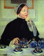 Mary Cassatt  - paintings - Lady at the Tee Table
