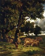 Bild:The Shepherdess and Her Flock