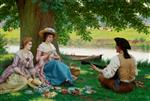 Edmund Blair Leighton - Bilder Gemälde - A Picnic Party