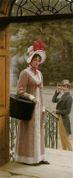 Edmund Blair Leighton - Bilder Gemälde - A Source of Admiration