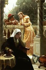 Edmund Blair Leighton - Bilder Gemälde - A Stolen Interview