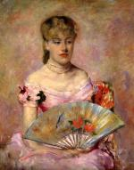 Mary Cassatt  - paintings - Lady with a Fan