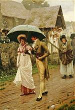Edmund Blair Leighton - Bilder Gemälde - A Wet Sunday Morning