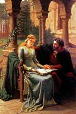 Edmund Blair Leighton - Bilder Gemälde - Abelard and his Pupil Heloise
