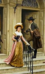 Edmund Blair Leighton - Bilder Gemälde - My Next-Door Neighbour