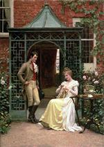 Edmund Blair Leighton - Bilder Gemälde - On the Threshold