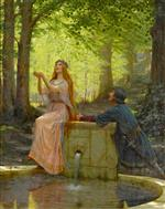 Edmund Blair Leighton - Bilder Gemälde - Pelleas and Melisande