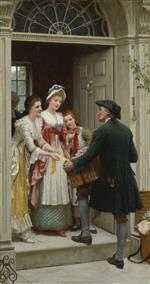 Edmund Blair Leighton - Bilder Gemälde - Ribbons and Laces for Very Pretty Faces