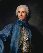 Jean Marc Nattier  - Bilder Gemälde - Portrait of a gentleman in a blue coat