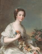 Jean Marc Nattier  - Bilder Gemälde - Portrait of a Lady