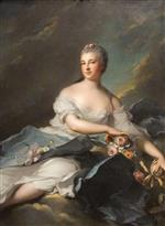Jean Marc Nattier  - Bilder Gemälde - Portrait of Baronne Rigoley d'Ogny as Aurora