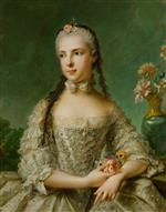 Jean Marc Nattier  - Bilder Gemälde - Portrait of Isabella of Parma