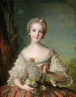 Jean Marc Nattier  - Bilder Gemälde - Portrait of Madame Louise de France at Fontevrault