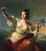 Jean Marc Nattier  - Bilder Gemälde - Terpsichore, Muse of Dance