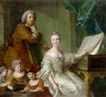 Jean Marc Nattier  - Bilder Gemälde - The Artist and his Family