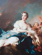 Jean Marc Nattier  - Bilder Gemälde - The Countess de Brac as Aurora