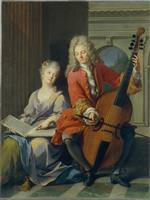 Jean Marc Nattier  - Bilder Gemälde - The Music Lesson