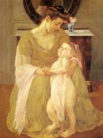 Mary Cassatt  - Bilder Gemälde - Mutter und Kind