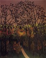 Henri Rousseau - Bilder Gemälde - A Corner of the Plateau of Bellevue