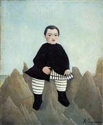 Henri Rousseau - Bilder Gemälde - Boy on the Rocks