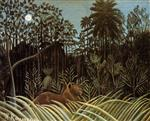 Henri Rousseau - Bilder Gemälde - Jungle with Lion