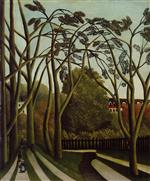 Henri Rousseau - Bilder Gemälde - Landscape on the Banks of the Bievre at Bicetre, Spring
