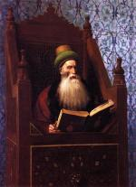 Jean Leon Gerome  - Bilder Gemälde - Mufti reading in his Prayer Book