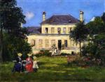 Eugene Boudin  - Bilder Gemälde - House and Garden of the Painter Braquaval