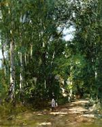 Eugene Boudin  - Bilder Gemälde - Near Trouville, Alley in the Woods